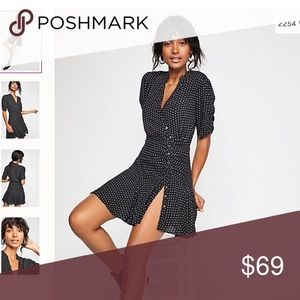 NWT Free People Pippa Polka Dot Dress